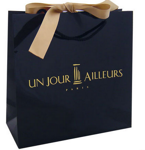 logo printed luxury paper shopping bag, logo printed paper bag