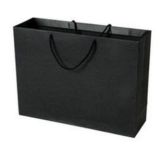 Glossy Lamination Rope Handle Paper Bags for Clothing Boutiques
