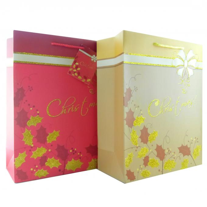 Custom Designs Matt Lamination  Wedding Paper Gift Bags for out of town guests