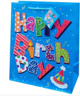 Fancy birthday paper material packaging bags gift bags