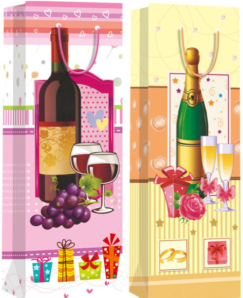 wholesale customied paper bag for wine