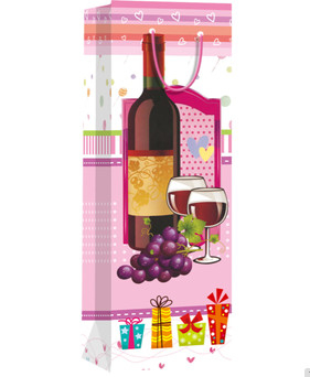 Hiqh quality custom paper material for shopping wine bag