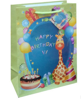 Very popular birthday design gift packing paper bag in EU market