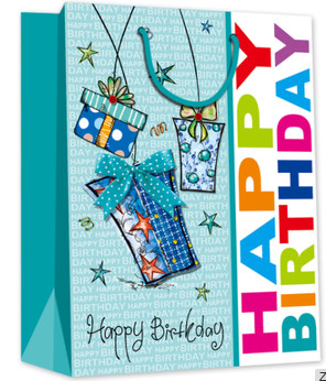 Very popular birthday design gift packing paper bag in US market