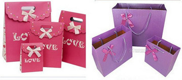 Luxury shopping paper bag, different types design custom paper shopping bag