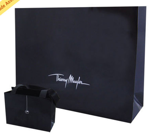 luxury Custom Made Gift Printed Paper Shopping Bags with ribbon handle