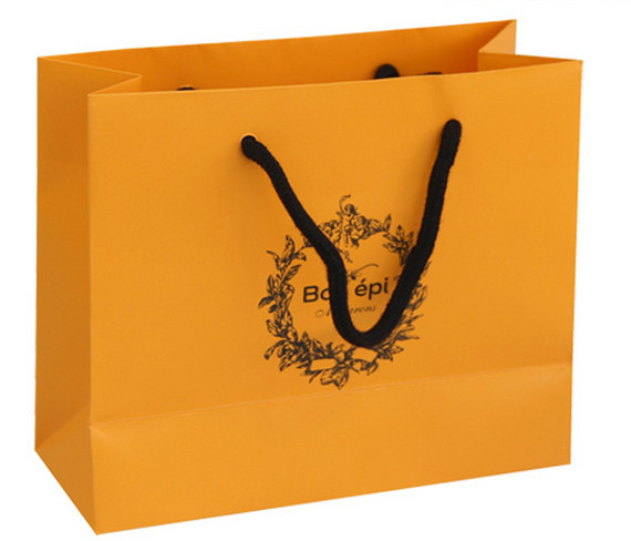 Cheap Custom Printed Luxury retail paper shopping bag Supplier