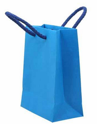 Recycle Glossy Laminated Paper Shopping Bags
