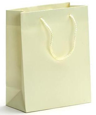 White Kraft Paper Bags, Luxury Shopping Paper Bags