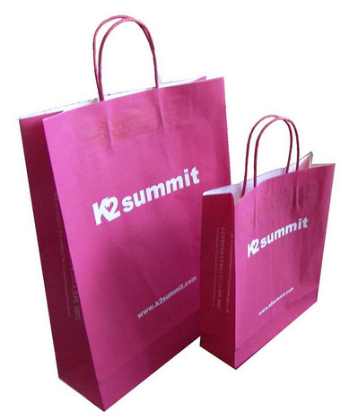 Clothing Red Kraft Paper Shopping Bags China Wholesale Price