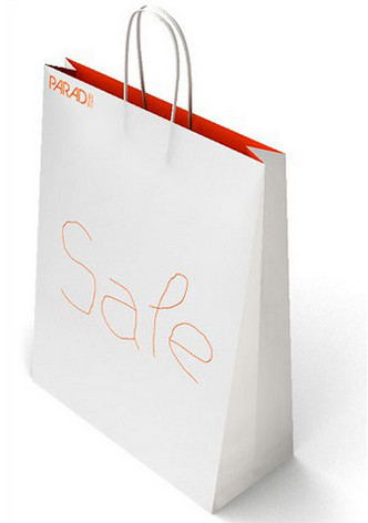 White Paper Bags for Evens & Trade Fairs