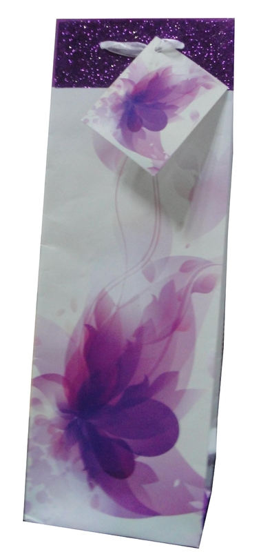 Wholesale Fashion Recycled Gift Paper Wine Bag