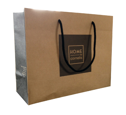China Wholesale Price Customized Brand Kraft Paper Bag With Your Own Logo distributor