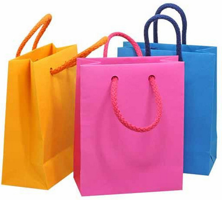 China Wholesale Recycle Glossy Laminated Paper Bags factory