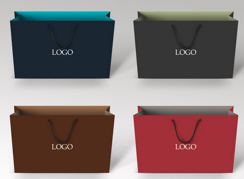 China Logo printed Custom Paper Bags with lamination and matt factory