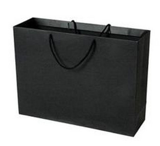 China Black Laminated Paper Gift Bags factory