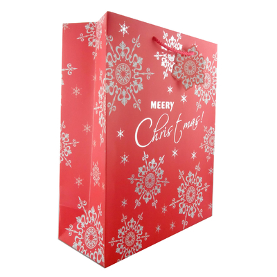 China Luxury Christmas Gift Paper Bags with Flower Patterns differnt colors distributor