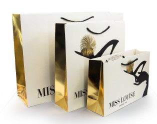Luxury Shopping Paper Bags with Your Own Logo Printing Paper Bags